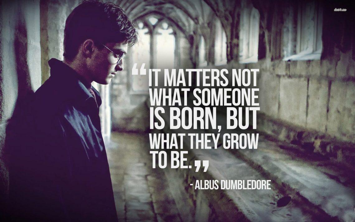 Albus Dumbledore Quote in Harry Potter Audiobooks