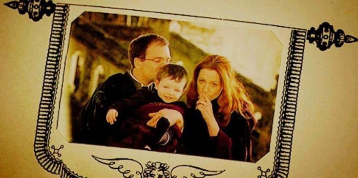 Harry Potter and his parents: James Potter and Lily Evans