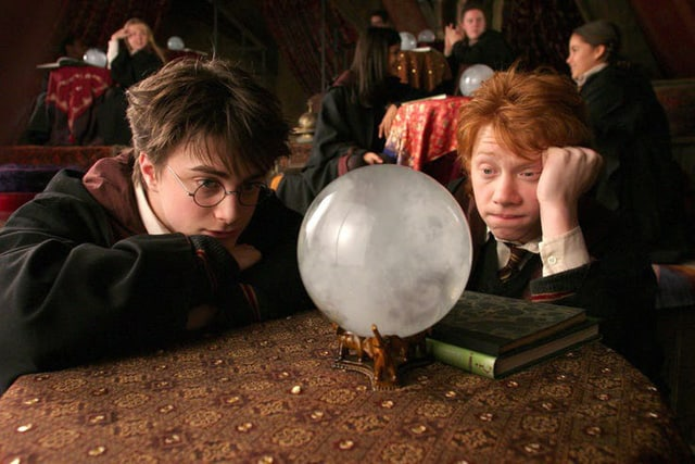 Harry and Ron in the magic class