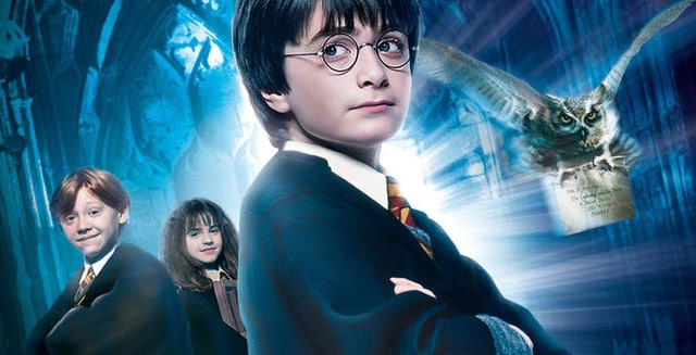 Harry is wearing glasses
