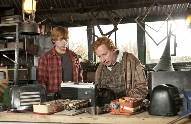 Ron and his father Arthur Weasley