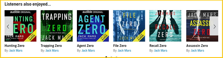 Agent Zero Spy Thriller Audiobooks series